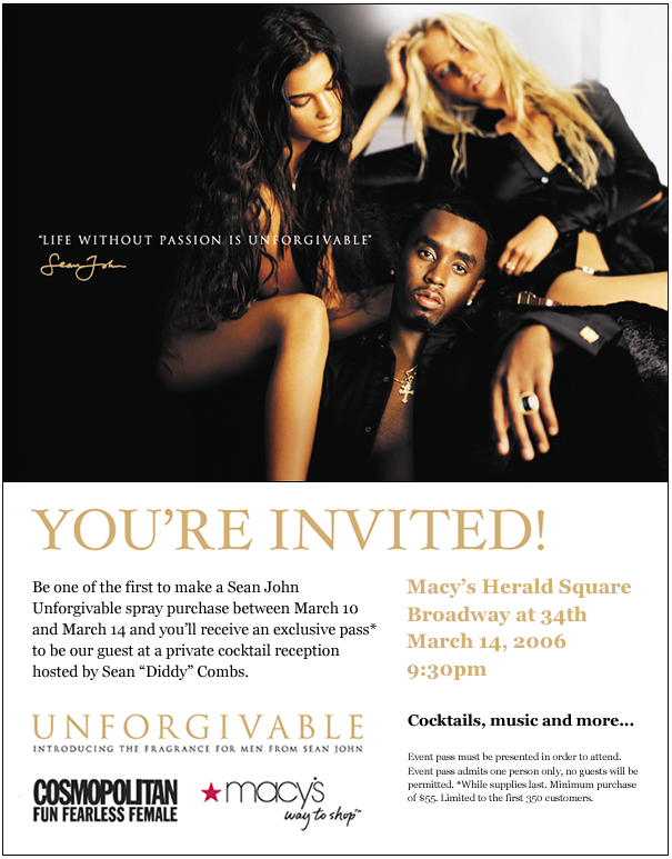 Project: Email - Sean John / Macy's
