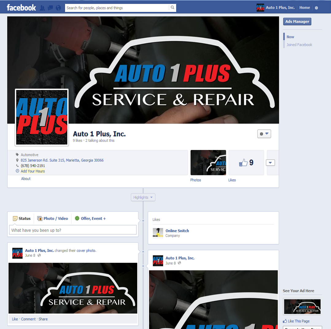 Project: Social - Facebook - Auto 1 Plus
