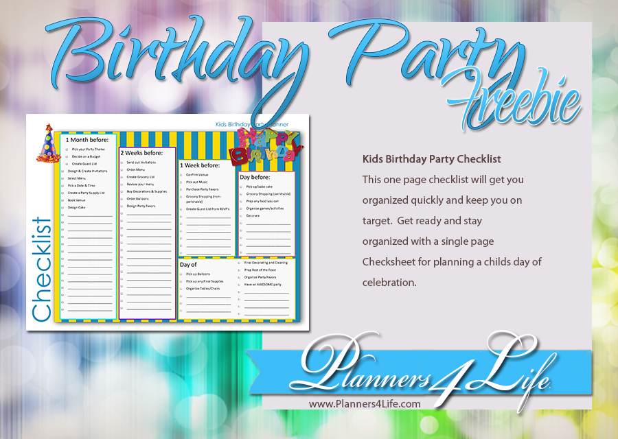 Project: Social - Facebook - Birthday Party Checklist