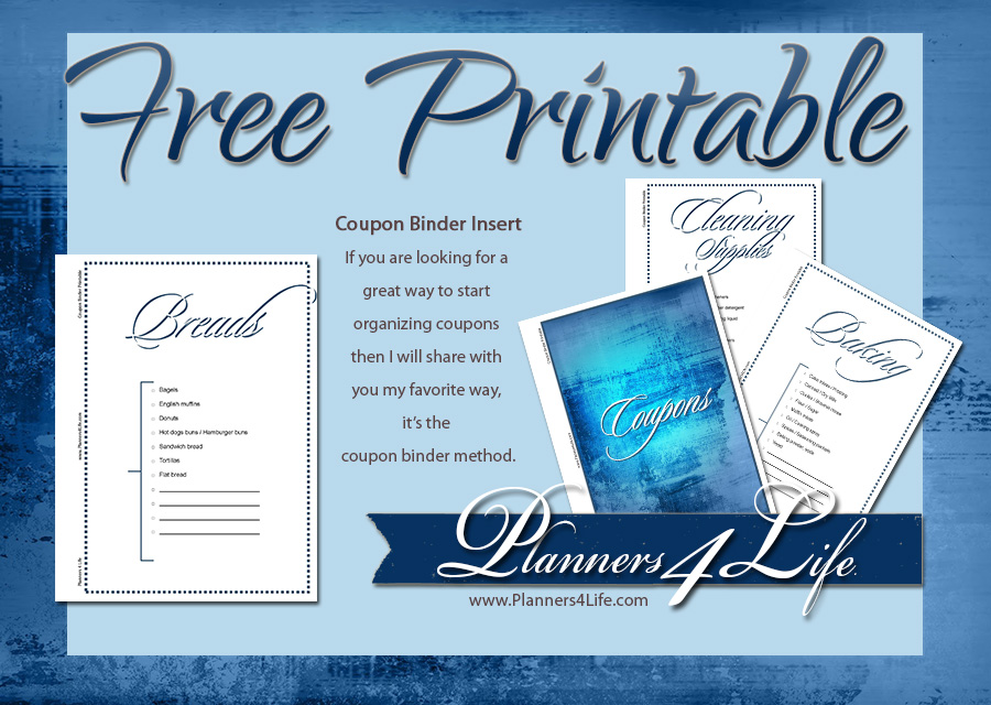 Project: Social - Facebook - Coupon Binder Insert blue